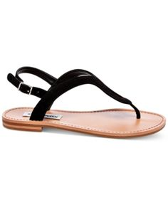 Steve Madden Women's Takeaway Flat Sandals - Black 7.5M