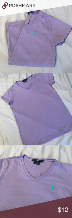 V neck Tee Casual lavender tee shirt Polo by Ralph Lauren Tops Tees - Short Sleeve
