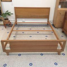 Sleep Well!  . #Vintage #MidCentury #RWay #SolidWood #FullSizeBed -Click On Link For All Info Sleep Well, Mid Century Modern Furniture, Storage Chest, Solid Wood, Mid-century Modern, Cabinet, Link, Vintage, Inspiration
