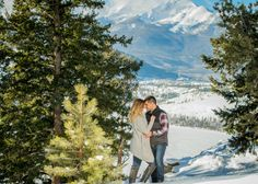 Sapphire Point Overlook Winter Proposal Engagement Colorado Mountains