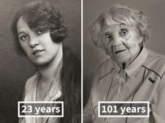 People Photographed As Young Adults And 100-Year-Olds - Neatorama