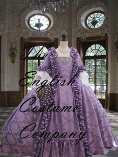 Marie Antoinette dress. Colonial Georgian di TheEnglishCostumeCo