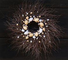 scrambled eggs wreath, wianek wielkanocny: jajecznica,