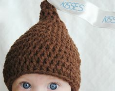 free hershey kiss crochet hat pattern - Google Search