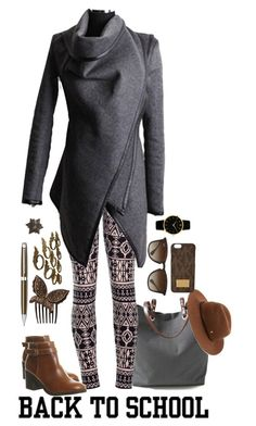 """""""Back to School: Fall Jackets"""" by dzeni-dzen ❤ liked on Polyvore featuring Independent Reign, Office, Ray-Ban, Helen Kaminski, France Luxe, Larsson & Jennings, Caran D'Ache, Arteriors and BackToSchool"""
