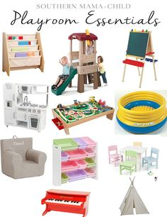 Playroom Essentials for babies, toddlers, and kids!                                                                                                                                                                                 More
