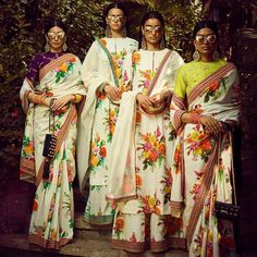 Beautiful white floral sarees by Sabyasachi spring summer 2018 collection #Frugal2Fab