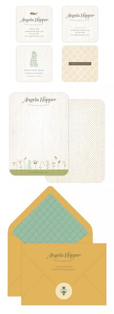 Notecard & Business Card Design for Angela Hopper Photography { part two; <3 braizen branding }