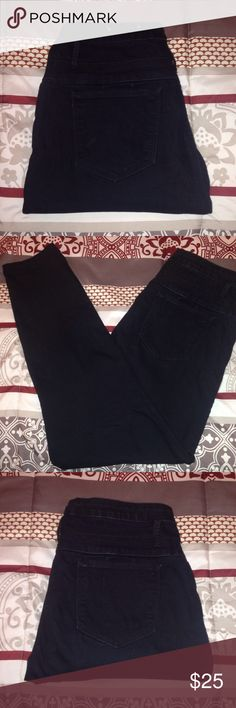 Black High Waisted Skinny Jeans Black skinny jeans from Charlotte Russe. High waisted. Super skinny. Size 14. 3 Gold Buttons. Fake front pockets. Great condition. Everything is washed before shipped out. Any questions? Feel free to ask. Reasonable offers welcome. refuge Jeans Skinny