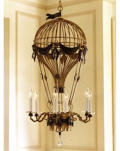 I love this steampunk chandelier!