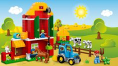 LEGO® DUPLO® - Big Farm The LEGO® DUPLO® Big Farm set provides great play starters for little hands with animals, 3 farm buildings and lots of accessories!