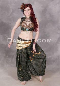STEAL BLUEWomen Lady Hot Spiral Skirt 3 Layer Circle Belly Dance Costume Boho