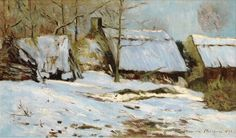 Maxime Maufra - Cabins under the Snow, 1891