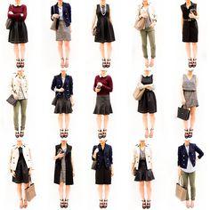 Pre-Fall Capsule Wardrobe: 15 Pieces, 15 Looks