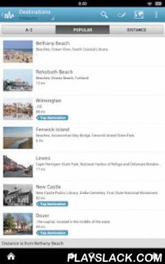 Delaware Guide By Triposo  Android App - playslack.com , Features of Triposo's guide to Delaware:★ Suggestions of what's interesting to see and do in Delaware, depending on time, weather and your location;★ A detailed sights section with all the monuments of Rehoboth Beach, Wilmington, Newark, Dover;★ Eating out section with the best restaurants in Rehoboth Beach, Wilmington, Newark, Dover;★ Discover the nightlife of Delaware! Bars, pubs & disco's in Rehoboth Beach, Wilmington, Newark…