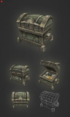 Low Poly Treasure Chest Small:
