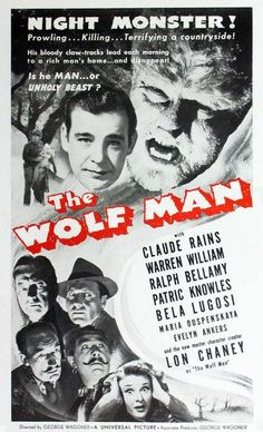 The Wolf Man 1960 Re-release One Sheet