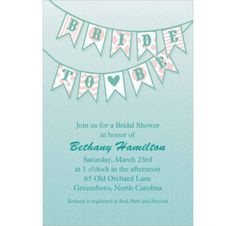 Bride to Be Flags Custom Invitation - Party City