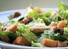 Get Proper Chicken Caesar Salad Recipe from Food Network Fast Food Low Carb, Low Carb Diet, Best Low Carb Recipes, Great Recipes, Healthy Recipes, Simple Recipes, Chicken Caesar Salad, Yummy Food, Tasty