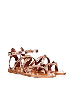 A chic summer essential, these strappy sandals from K.Jacques are equally stylish on sandy beaches and city streets #Stylebop