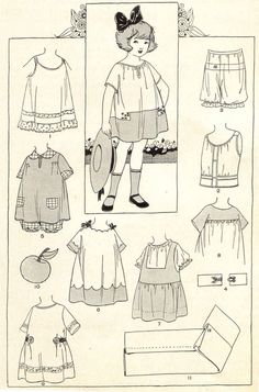 Girl's clothing, Woman's Institute Home Sewing Tips Booklet, 1925.