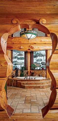 Pioneer Handcrafted Log Homes #loghomes #logcabins #loghomeliving #logcabinhomes