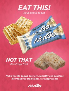 Try A Nugo Family Vanilla Yogurt Bar Instead Of A Traditional Rice Crispy Treat You