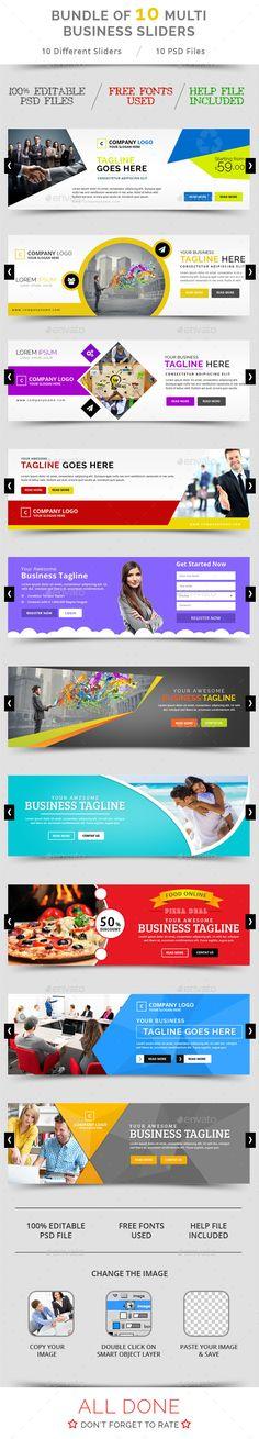Bundle of 10 Multi Business Sliders Templates PSD. Download here: http://graphicriver.net/item/bundle-of-10-multi-business-sliders/11243569?ref=ksioks