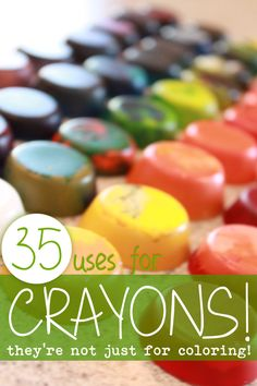 So many ideas for the kids to do with for all the broken crayons!