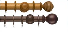 Wooden Curtain Rods - 2