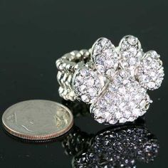 Trendy Crystal Paw Stretch Ring Clear, $9.99 (http://www.cowgirlblingranch.com/products/trendy-crystal-paw-stretch-ring-clear.html)