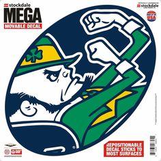 "Notre Dame Fighting Irish Decal - 12""x12"" Mega"