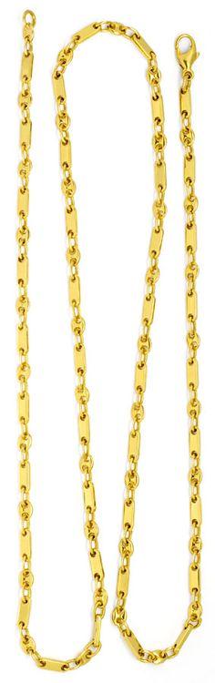 Foto 3, Massive Gold-Kette Bohnen Marina Schiffsanker Plättchen, K2227