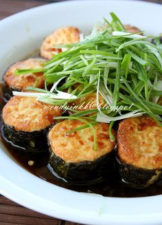 It was in 2001 that I came up with this dish. It was inspired by my first taste of Agedashi Tofu. And for many years I have cooked it man. Pureed Food Recipes, Tofu Recipes, Seafood Recipes, Asian Recipes, Vegetarian Recipes, Cooking Recipes, Healthy Recipes, Asian Foods, Chinese Recipes