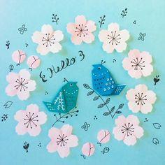いいね!316件、コメント10件 ― nanatakahashiさん(@_nanahoshi_)のInstagramアカウント: 「そろそろですかねー? Spring has come ? • • #origami #illustration #papercraft #paperflower #birds #spring…」 Origami, Paper Crafts, Diy Crafts, Paper Cutting, Art For Kids, Stitch, Photo And Video, Illustration, Flowers