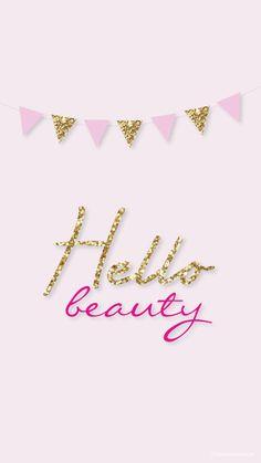 Hello Beauty! Simple Pink Gold iPhone Lock Wallpaper @PanPins