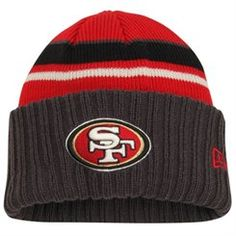 Mens San Francisco 49ers New Era Scarlet Oversizer Beanie