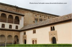 Courtyard of the Myrties Nazaries Palace Alhambra Grenada Spain