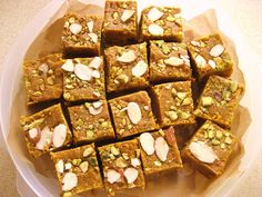 indian dessert recipes with pictures - Bing Images Gram Flour Fudge (Monthar) Indian Desserts, Indian Sweets, Indian Dishes, Indian Food Recipes, Indian Foods, African Recipes, Mohanthal Recipe, Rajasthani Food, Gujarati Food