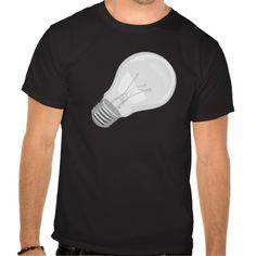 Light bulb Old School Tee Shirt
