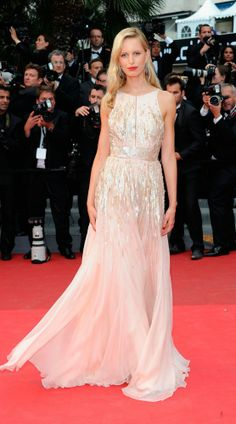 Karolina Kurkova in 2011 wearing a stunning Roberto Cavalli gown. More of the best Cannes red carpet looks:  http://uk.bazaar.com/1luGXYY