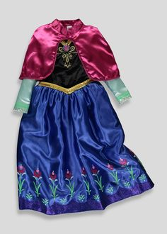 Girls Disney Frozen Anna Dress Up (4-9yrs) - Matalan