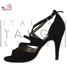 Woman tango shoes in black suede  http://www.italiantangoshoes.com/shop/en/women/334-la-rosa-del-tango.html