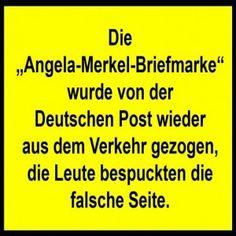 """Die """"Angela-Merkel-Briefmarke"""" wurde von der Deutschen Post wieder aus dem…"""