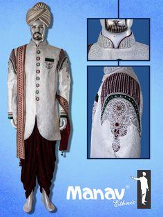 Get the best Ethnic Wear for your occasion that suits your personality and the current modern trends. Most elegant collection around town by Manav Ethnic since Sherwani For Men Wedding, Wedding Men, Mens Ethnic Wear, Indian Ethnic, Suits You, Mumbai, Men's Fashion, Menswear, Velvet