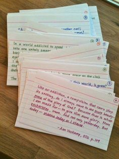 making index cards