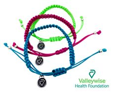 All In With Valleywise Health Foundation - Charity Charms Braided Bracelets, Cord Bracelets, Health Programs, Critical Care, Health Logo, Heart And Mind, Save Life, Unique Colors, Custom Items