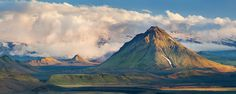 Hattfell rises above the dramatic plains of Iceland with big clouds behind, Alex Nail Photography. www.alexnail.com