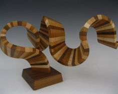 Modern wood abstract sculpture от SteveFrank71 на Etsy