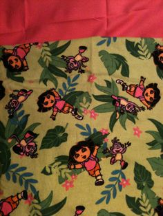 Dora the Explorer Flannel Blanket by TwoHeartsbyAmanda on Etsy, $15.00
